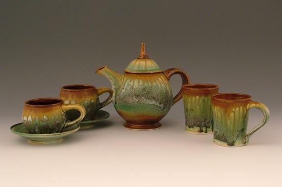 Earth Tone Ash Tea Set