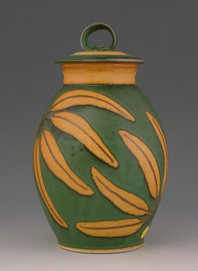 Wheel thrown ceramic urn